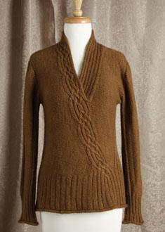 Knitting Gallery - Braided Pullover  Bertha