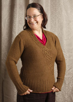 Knitting Gallery - Braided Pullover  Sanid