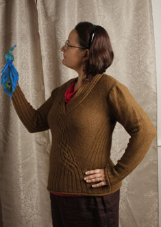 Knitting Gallery - Braided Pullover  Sandi