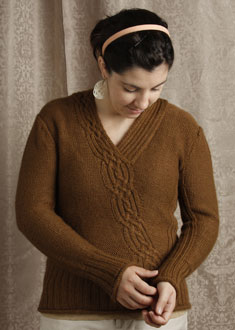 Knitting Gallery - Braided Pullover  Stef