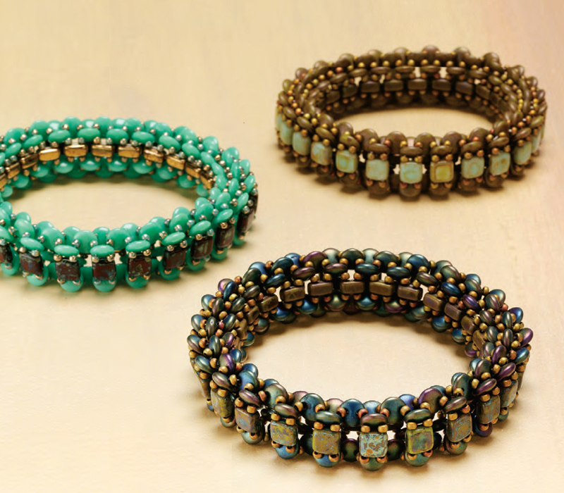 Breezeway Bangle by Nichole Starman. Shaped beads, Favorite Bead Stitches Beadwork issue
