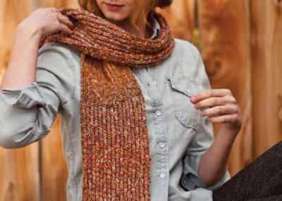 You'll love making the Pizzicato Scarf while learning how to knit the Brioche stitch.