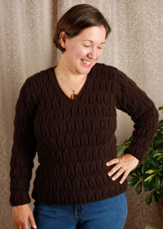 Knitting Gallery - Brocade Leaves Amy