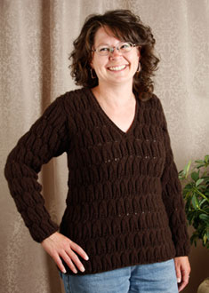 Knitting Gallery - Brocade Leaves Debbie