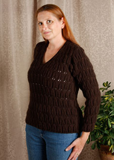 Knitting Gallery - Brocade Leaves Kat
