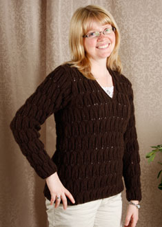 Knitting Gallery - Brocade Leaves Toni