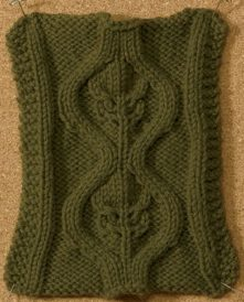 Learn about this knitting stitch by Lisa Shroyer called Bromeliad Cable stitch in this free eBook on nine amazing knitting stitches.