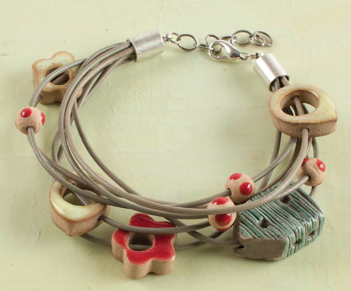Brookside Blooms Bracelet By Danielle Fox Multiple Cords Glued Into Cord Ends