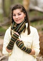 Bryophyta Cowl and Mitts Knit Pattern