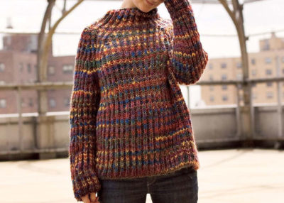 Knit this bulky Brioche stitch sweater knitting pattern in our free guide.