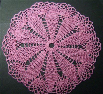Pink Round Doily Interweave