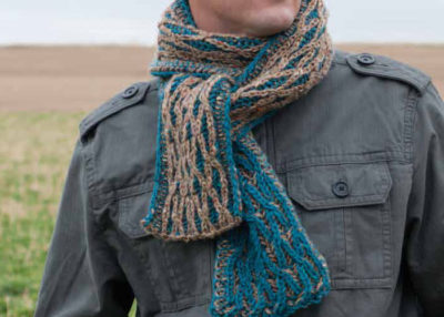Test your skills at the Brioche stitch with this advanced scarf knitting pattern.