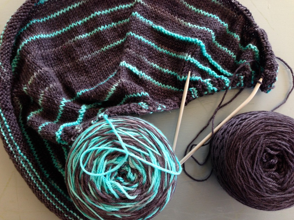 Mastering Variegated Yarn with 5 Knitted Shawl Patterns - Interweave