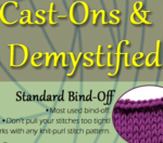 Cast-On & Bind-Off Knitting Infographic