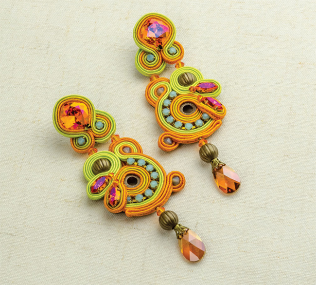 Caprice earrings, by Csilla Papp from Sensational Soutache