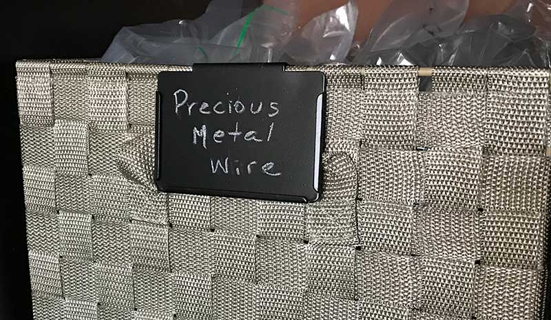 jewelry making supplies labeled