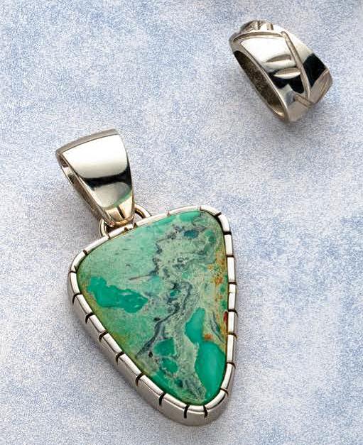 Michael Anthony Cheatham turquoise pendant. Photo: Jim Lawson