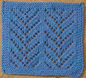 Learn about this awesome lace knitting stitch by Courtney Kelley called the Chevron Lace stitch in this free eBook on nine amazing knitting stitches.