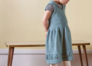 Children's Knitting Pattern: Teacup Pinafore by Carol Feller.