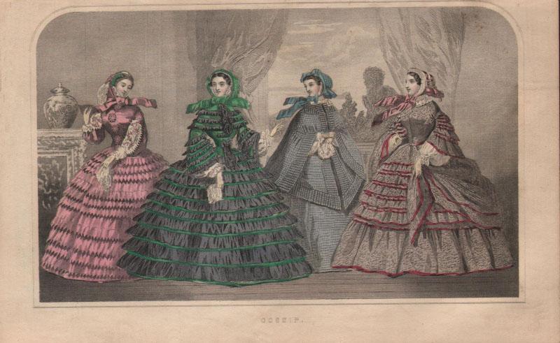 """Gossip"" from Godey's magazine, 1860"
