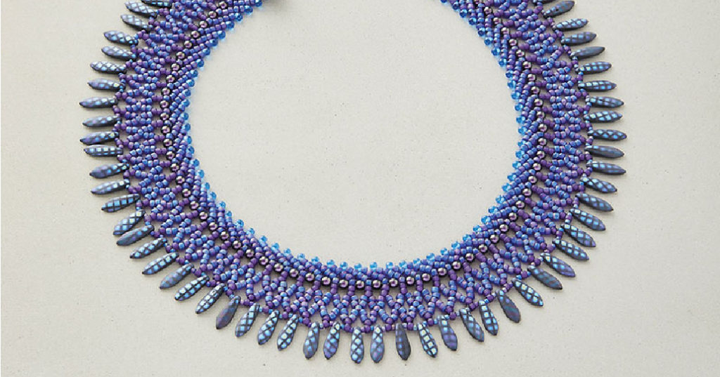 Classic Blue beaded necklace