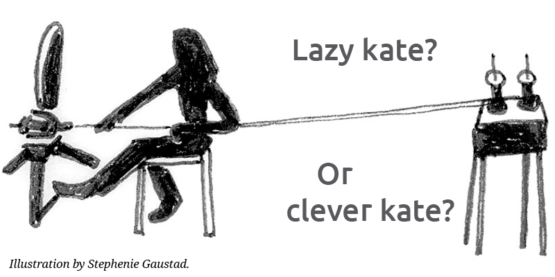 Lazy Kate…or Clever Kate? A Spinner's Best Friend
