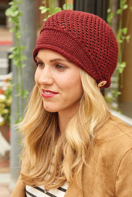 Knit hats like the Scoop Brimmed Cap are great wardrobe builders!