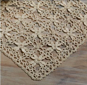 Detail of a doily made in Cluny tatting. Complete instructions for making the doily are included in the July/August 2015 issue of PieceWork.