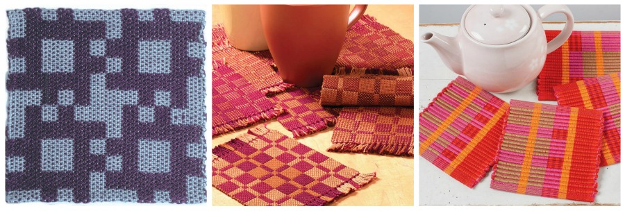 Left: Keasbey 36. Center: Double Weave Coasters. Right: Horton Little Gems Coaster.
