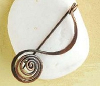 spiral fibula pin brooch