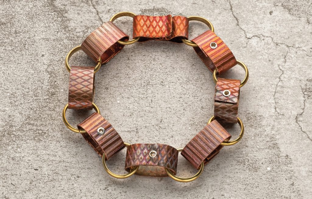 Cold Connections Bracelet: Running Circles by Kieu Pham Gray