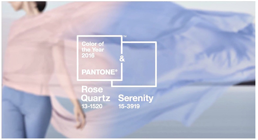 Pantone 2016 colors of the year - rose quartz and serenity