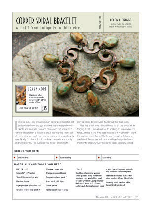 copper spiral bracelet