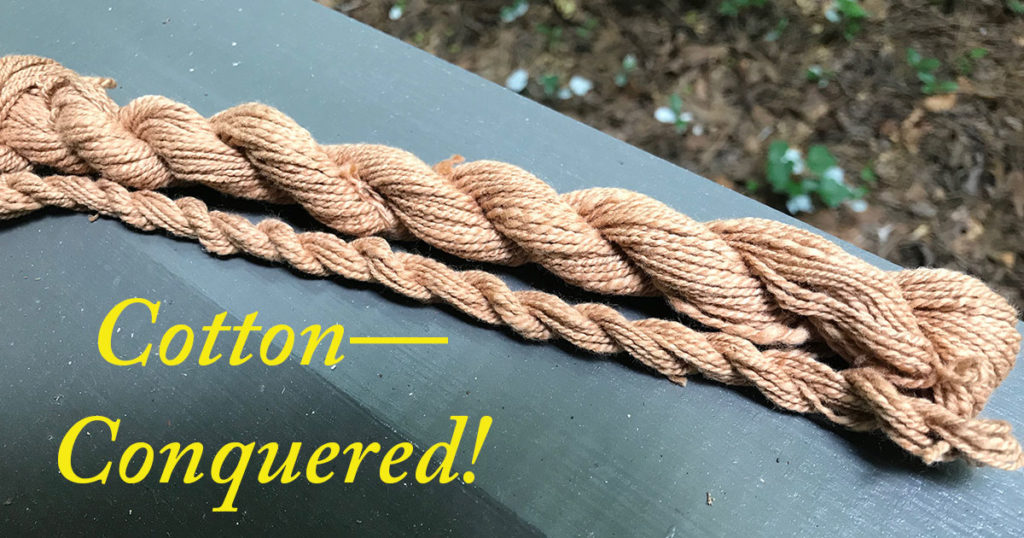 Spinning Cotton Yarn: Lessons For Completing a Personal Challenge