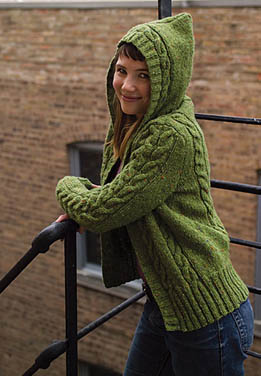 Knitting Pattern Central Park Hoodie : The Central Park Hoodie-PLUS! - Interweave