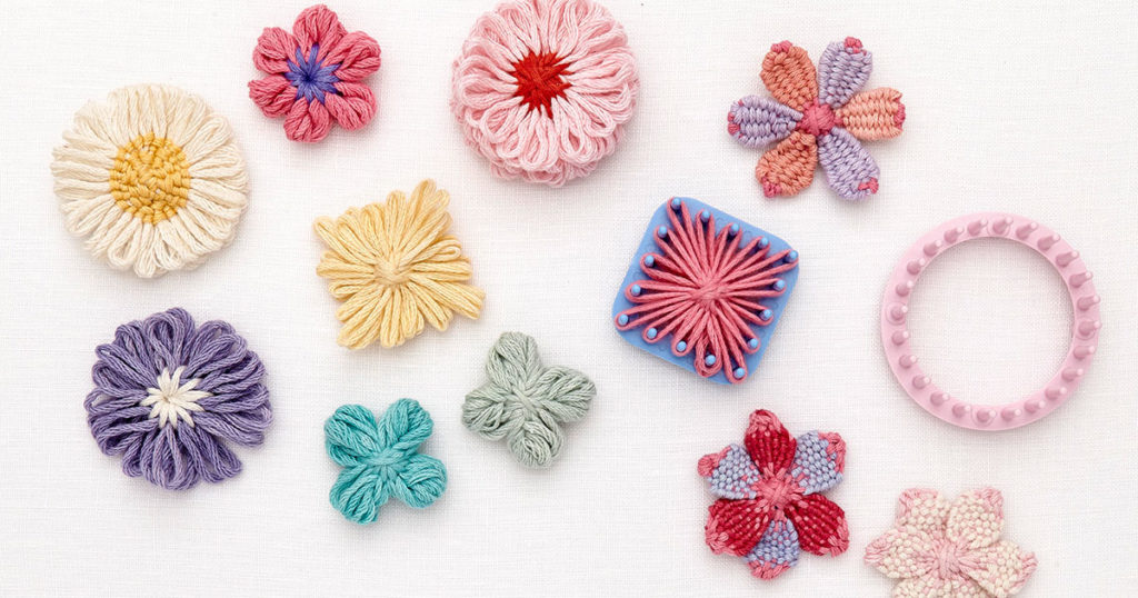 Crochet Flowers Bloom with the Magic of a Loom
