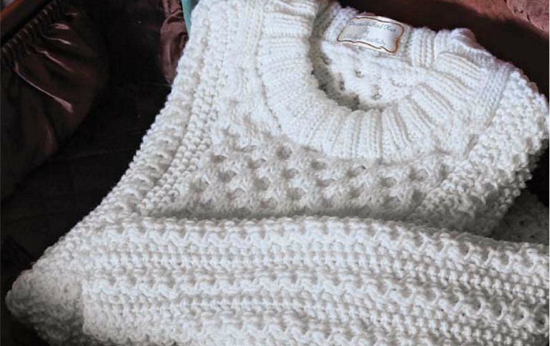 Creamy Aran Pullover