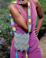 Free Chevron crochet shoulder bag pattern by Grace Talcott | CrochetMe.com