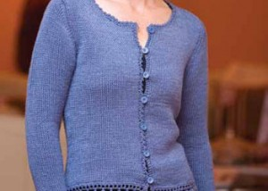 Learn how to crochet this wool bam boo cardigan in this FREE eBook on crochet sweater patterns.
