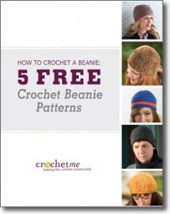 The 5 Free Crochet Beanie Patterns eBook comes with 5 fun crochet patterns with step-by-step instructions.