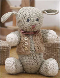 Sir Stephen, the Bunny is a fun crochet amigurumi pattern for beginners.