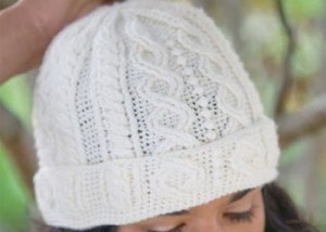 The Stone Path Hat is a cable stitch hat pattern found in our free Crochet Cable Stitch Guide eBook.