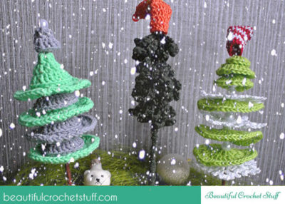 crochet christmas trees free pattern by jane green