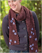 Diana's Blossom Scarf Crochet Pattern for flowers as embellishments.