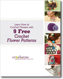 You'll love these 9 free patterns on crochet flowers.