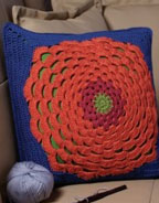 Flower Power Pillow Crochet Pattern for crocheting flowers as the main attractions in your crochet patterns.
