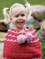 The Toddler Poncho is a brightly colored wool poncho that is specifically designed for the little girl in your life.