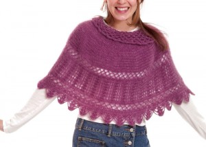 The Girly-Girl Capelet has very simple stitches which makes it a easy crochet pattern for beginners.
