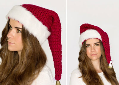 Crochet Santa Claus hat pattern.