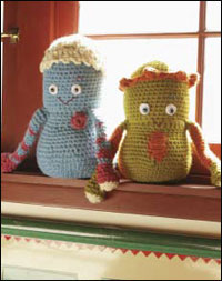 The Doug & Gordo Dolls are just one of the fun crochet amigurumi patterns found in our free eBook.